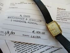 vintage ladies rotary watch, origional paper s, sold for spares repairs