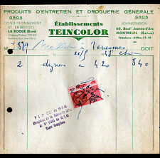 """LA ROQUE & MONTREUIL (27 / 93) PRODUITS D'ENTRETIEN & DROGUERIE """"Ets TEINCOLOR"""""""