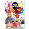 752; Large Personalised Birthday card; Peter Rabbit; for any name age; to little