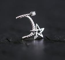 Wrap Jacket Climber Earrings Non Pierced 925 Sterling Silver Ear Cuff Clip