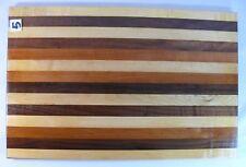 Cutting Board 11x17 Maple Walnut Purpleheart Hardwood Chopping Handcrafted