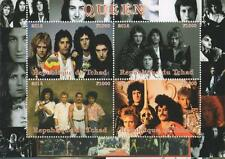 "QUEEN FREDDIE MERCURY POP ROCK ICON TCHAD 2014 MNH 4.5"" x 6"" STAMP SHEETLET"