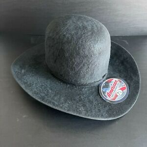 American Hat Company Charcoal 20x Grizzly Cowboy Western Hat, Size 7 1/4 Long