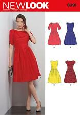 NEW LOOK SEWING PATTERN MISSES' DRESS DRESSES SIX SIZES IN ONE 8 - 18  6391