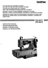 Brother FD4-B271 FD4-B272 Flat Bed Sewing Machine Owners Manual Reprint