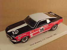 Spark 1/43 Resin Ford Mustang Fastback, 1969 Trans-Am #15, Parnelli Jones #S2642