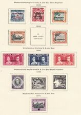 NIUE  ^^^^^1935-40  hinged  sets  on page    $$@sc163xxbniue