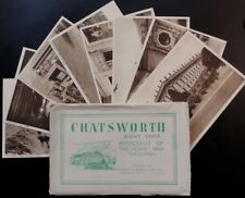 Derbyshire CHATSWORTH HOUSE & GROUNDS Set of Eight Old Postcards by Photochrom