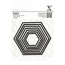 Dies X-cut HEXAGONES avec feuille magnétique de rangement scrapbooking cartes