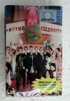 Celebrity by NSYNC Leaflet Poster Rare 2001 Malaysia Cassette Brand New Sealed