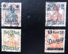 Danzig Mi 26-31 , Freimarken , Gefälligkeitsstempel , Unvollständig