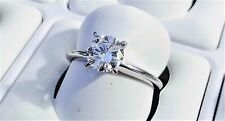 18k White Gold 1.00ct Diamond Solitaire G-H/I1-I2 Engagement Ring Size 7