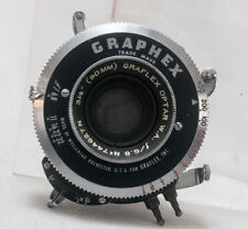 Graflex Optar 90mm Wide Angle Bi-post Lens in Working Graphex Shutter