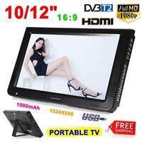 "LEADSTAR 10/12"" Digital Portable TV Player DVB-T2 1080P Television HDMI USB Car"
