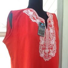 NEW- Woman's XL Red Top w/white Trim