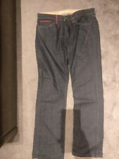 MENS BLUE JEANS TROUSERS W36 L34 STRAIGHT LEG