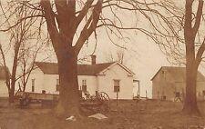 Kingston Ohio 1912 RPPC Real Photo Postcard Farmhouse and Barn Ross County