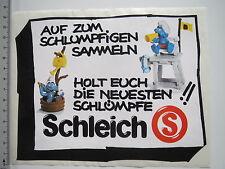Adesivo sticker SCHLEICH-PERSONAGGI-Puffi (m1774)