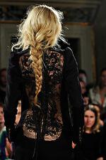 Emilio Pucci Runway Gorgeous Black Jumpsuit Lace Embellished Back **IT38**