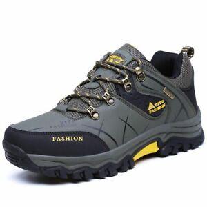 Zapatos De Senderismo Impermeables Para Hombres Botas De Cuero De Felpa Cálidas