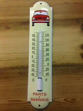 Thermometer emaille, enamel, porcelain ware, TRiumph TR6