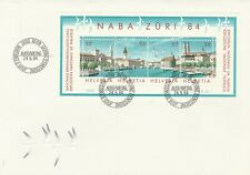 "Schweiz, FDC ""NABA ZÜRI '84"" Mi. 1276 - 1279/Block 24"