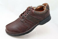 Clarks Unstructured 85022 Mens Sz 11W Brown Leather Bicycle Toe Lace Up Oxfords