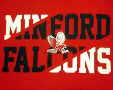 MINFORD HIGH SCHOOL Mighty Falcons med T shirt two-tone Ohio mascot tee