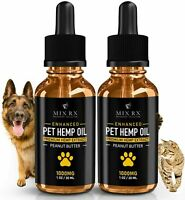 1000mg Hemp Oil for Dogs Cats Pets, Organic Calming Anxiety Pain Relief 2 Packs