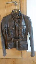 Belstaff Women Leather Jacket. Size 40 / 8, gold label, brown colour...