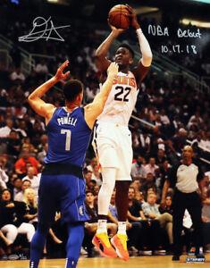 "DEANDRE AYTON Signed ""NBA Debut 10/17/18"" 16"" x 20"" Photograph STEINER LE 22"