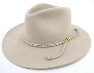 """Stetson 4X Beaver Felt Carson Silver Belly Western Hat - 7 3/8 - 3.5"""" Brim"""