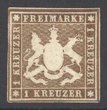 Württemberg Mi. Nr. 11a* ungebraucht Befund Heinrich BPP 800 Euro