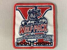 2007 Hartford Wolf Pack Hockey Scout Night pocket patch