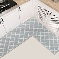 2Pcs Home Kitchen Floor Carpet Anti-Slip Area Rug Bathroom Door Mat Carpet