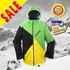 New RIDE Mens Snowboard Ski Jacket : [Black & Yellow vs Fern Green]