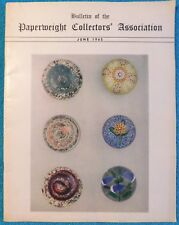 24 HOUR SALE!  Bulletin of the Paperweight Collectors' Association 1965