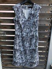 David Lawrence Black and White Cotton Sleeveless Dress Sz 8