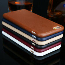 Hot Retro Leather TPU Soft Back Case Cover Protective Skin for iPhone 7/7 Plus
