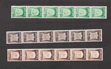 Israel 1965 1st Town Emblem Coil Strips Bale 328f-333f