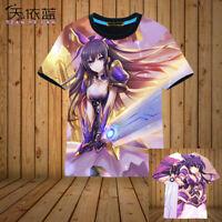 Anime DATE A LIVE Yatogami Tohka Casual T-shirt Unisex Tops Short Sleeve