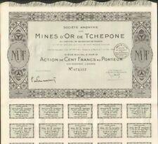 Mines d'OR de TCHEPONE (LAOS) (A)