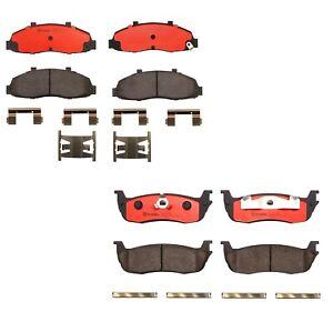 Brembo Front & Rear Ceramic Brake Pads Set Kit for Ford F-150 Lincoln Blackwood