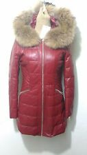 new design 100% real very soft lamb leather with fox mink fur coat hooded
