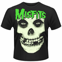 Misfits T Shirt Glow Jurek Skull Official Black Mens Punk Rock Merch Unisex New