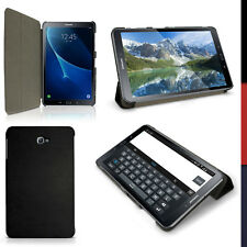 """Pu cuero funda Smart cover para Samsung Galaxy Tab a 10.1"""" Sm-t580 carcasa piel negro"""