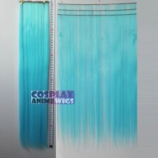Light Blue Hair Weft Extention (3 pieces) - 60cm High Temp - Cosplay 7_VLB