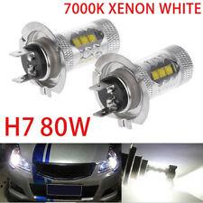 2pcs 80W H7 LED Headlight Fog Driving Light Lamp Canbus 6500K White Error Free