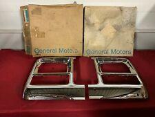NOS 79-80 CHEVROLET GMC TRUCK C/K BLAZER HEADLIGHT BEZELS GM 14010856 14010855