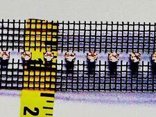 Rhinestone Trim Crystal Silver Banding Center Row Black Netting Insertion Trim